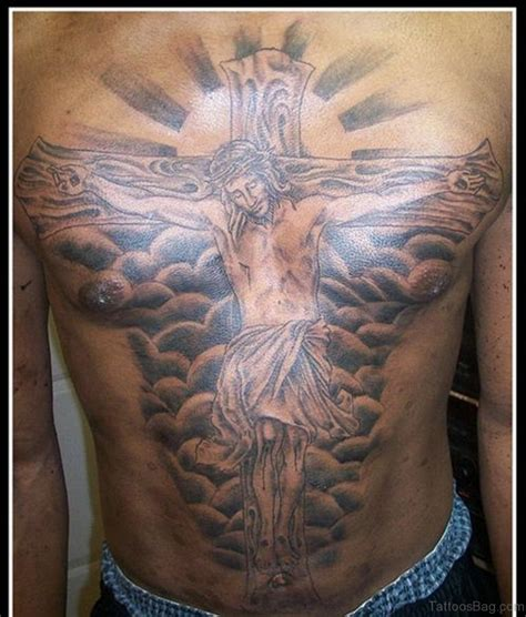 tattoos of christ on the cross 70 mind blowing jesus tattoos for chest