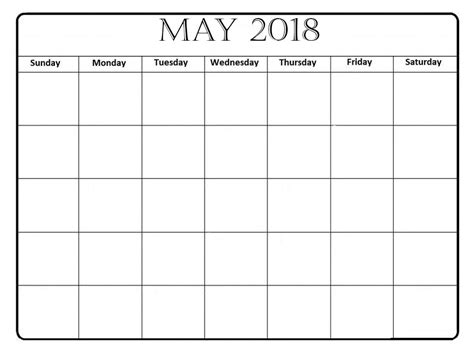 printable calendar 2018 decorative free printable may 2018 calendar page clipart library