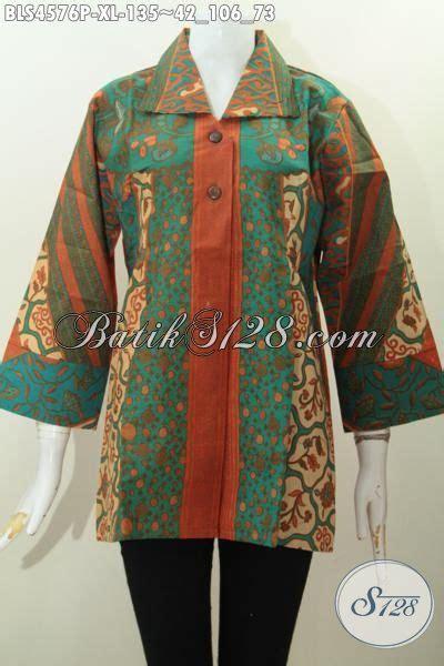 desain baju batik dewasa baju blus batik ukuran xl buat wanita dewasa pakaian