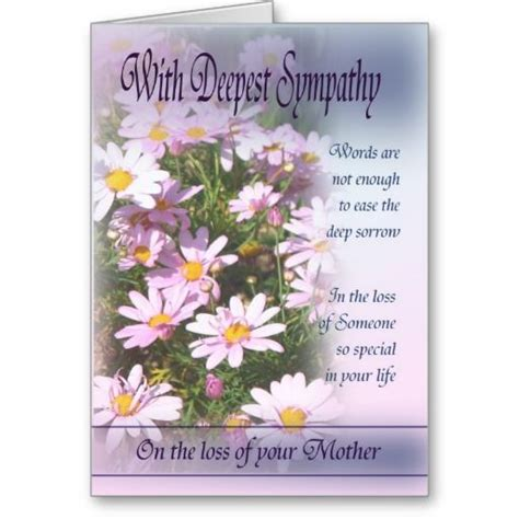 sympathy cards loss of with deepest sympathy card loss of mothers and sympathy cards