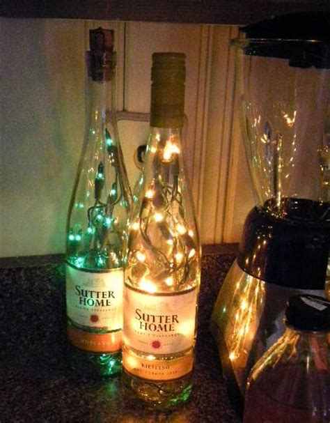 wine decorations for the home 2 lighted wine bottles sutters home moscato and reisling