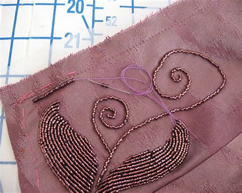 how to do beading on fabric lilacs lace transferring a beading pattern to fabric a