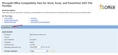 Office 2007 Compatibility Pack by Open Office 2007 Files Open Docx Documents Open Xlsx