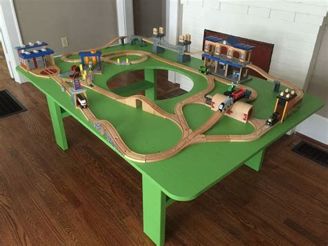tisch hours how to build a train table with hole in center finished