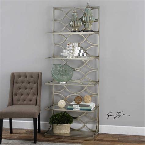 etagere 3 stöckig silber antique silver leaf etagere with glass shelves