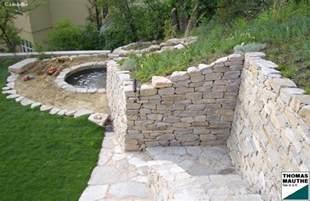 steinmauer garten steinmauern im garten