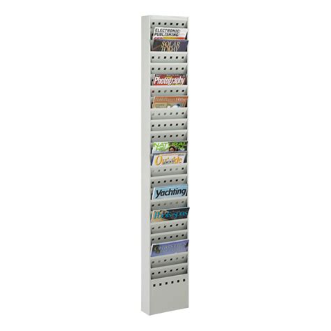 Vertical Magazine Rack by Safco Steel Magazine Rack W 23 Vertical Openings At