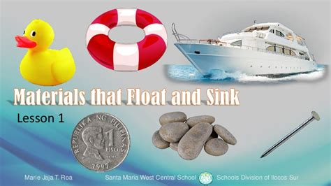 Objects That Sink And Float by Materials That Float And Sink