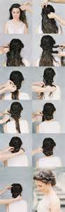 hair tutorials for medium hair crown braid chignon tutorial once wed