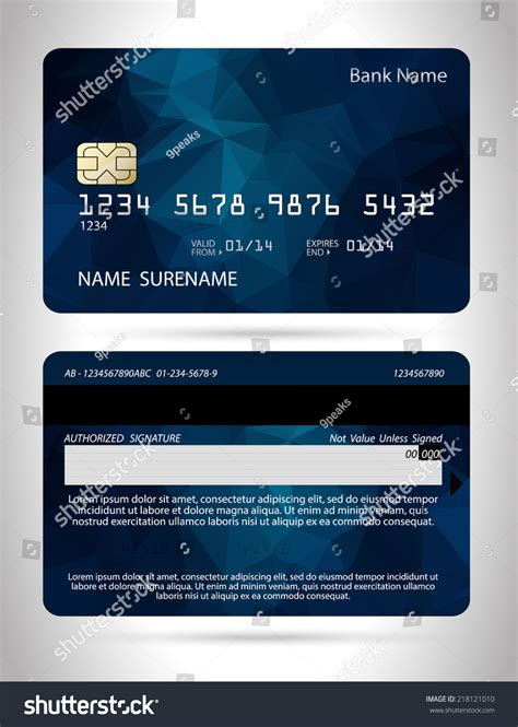 Credit Card Design Template Vector by Templates Credit Cards Design Polygon Background เวกเตอร