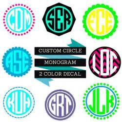 Circle monogram decal create your own monogram monogram decal initials