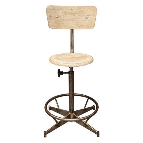 industrial adjustable stool light wood adjustable industrial swivel stool for sale at