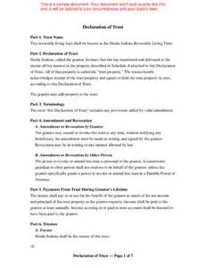 Living Revocable Trust Template by Living Trust Template Free