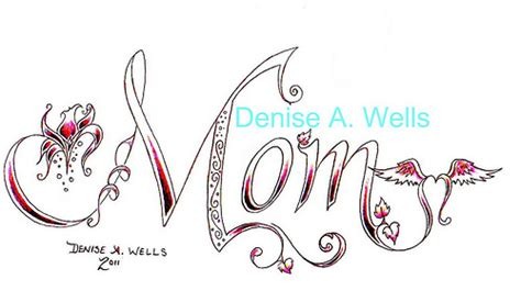 mom tattoo font mom tattoo design by denise a wells flickr photo sharing