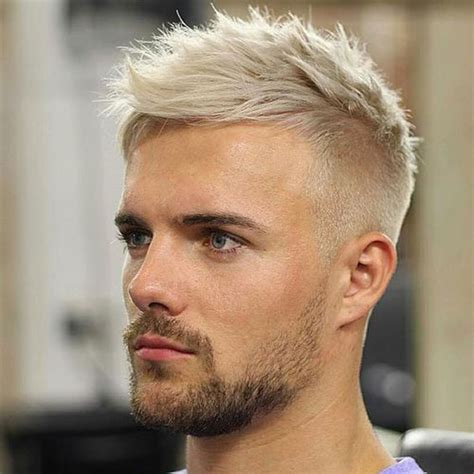 mens hairstyles dyed blonde bleached hair for men 2018