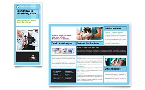 Shelter Insurance Letterhead Animal Hospital Brochure Template Word Publisher