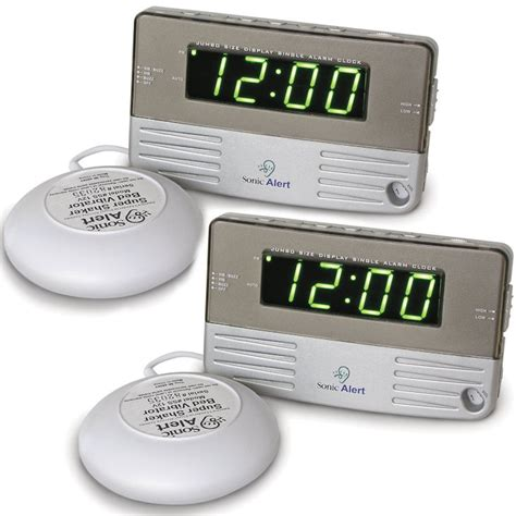 Alarm Clock Pillow Shaker by Sonic Alert Sb200ssx2 Sonic Boom Alarm Clock With Bed