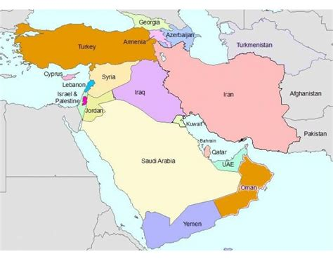middle east map bodies of water bodies of water south west asia middle east purposegames