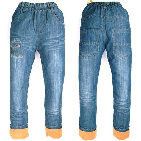 letter fleece lined jogger ᗜ Lj winter boys denim 웃 유 fleece warm trousers