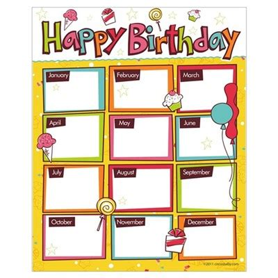 printable office poster happy birthday classroom wall art poster