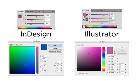 colour themes illustrator color picker in indesign graphic design stack exchange