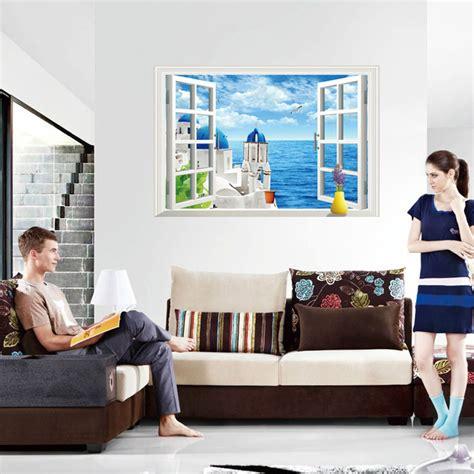 aliexpress home decor creative home decor 3d wall stickers fake window style