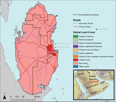 arabian peninsula map location location of qatar within the arabian peninsula and