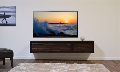 Tv On Floating Shelf by Furniture Appealing Floating Tv Cabinets Brings Marvelous