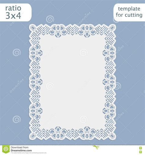 template border card cricut laser cut wedding invitation card template with openwork