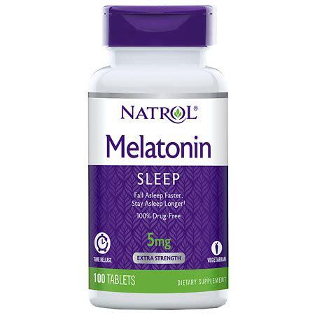 Natrol Melatonin Tr 5 Mg 100 Caps natrol melatonin tr 5 mg walgreens