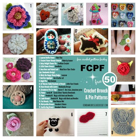 pin up pattern free 50 free crochet brooch patterns oombawka design crochet