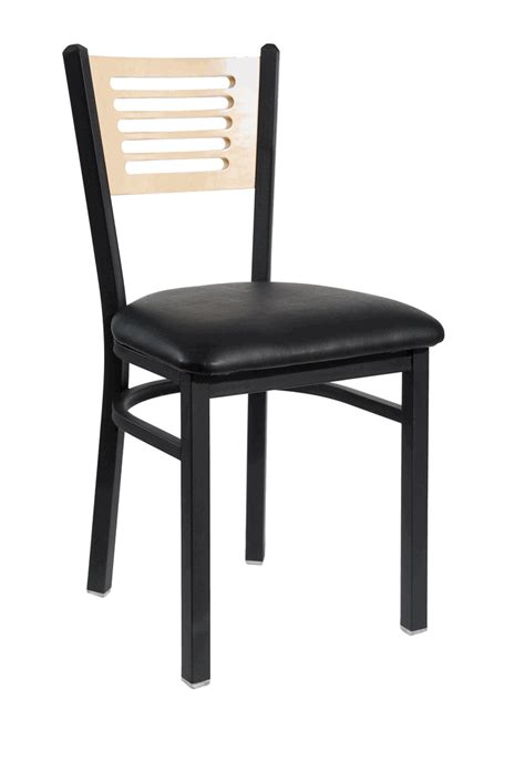 Commercial Chair by Metal Frame Commercial Chair W Slotted Wood Back And Seat