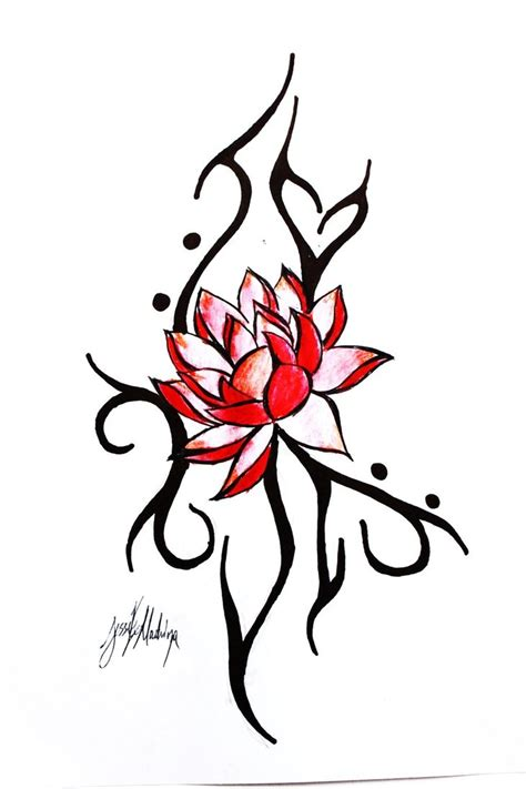 red ink tattoo designs 39 awesome lotus designs