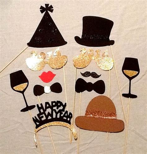 new year photo props items similar to photo booth props 12 pc new years