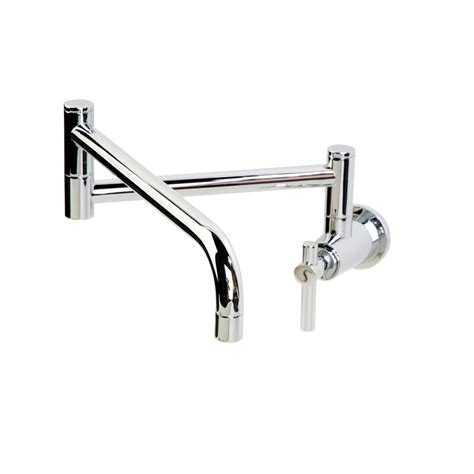 Kitchen Faucet Wall Mount Shop Giagni Contemporary Polished Chrome 1 Handle Pot Filler Wall Mount Kitchen Faucet At Lowes