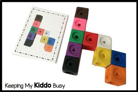 540 card cube template items similar to snap cubes with pattern cards preschool