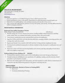 Exles Of Nursing Resumes by Nursing Resume Sle Writing Guide Resume Genius