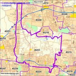 Cincinnati Zip Code Map by Cincinnati Oh Zip Codes Maps Submited Images