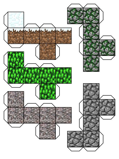 Papercraft Printables - free coloring pages of minecraft dirt block