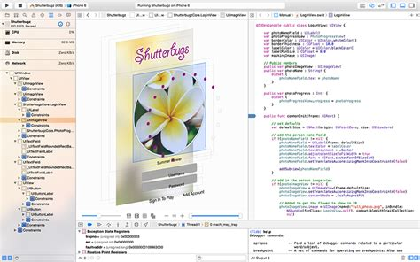 xcode debug layout constraints performance testing