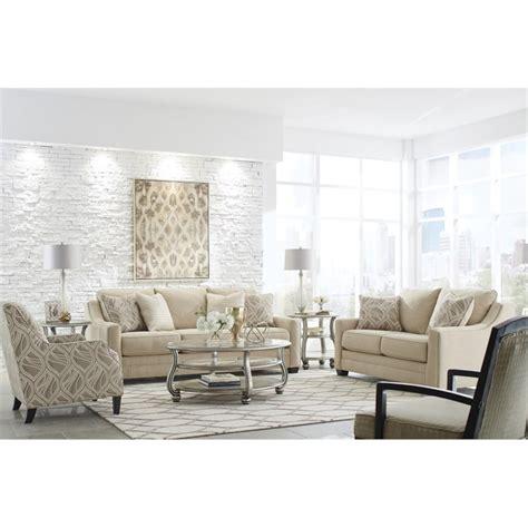 fabio modern living room set ashley mauricio 4 piece sofa set in linen 81601 38 35 60