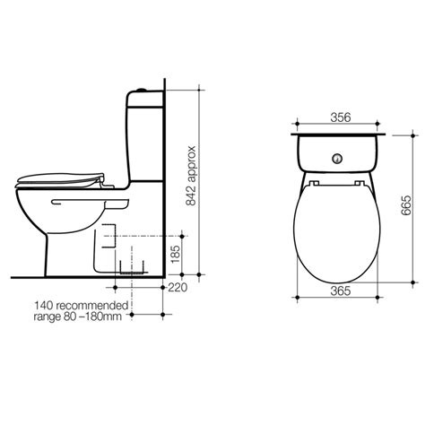 section of toilet caroma 落地式分體馬桶 opal 987063 衛浴台灣