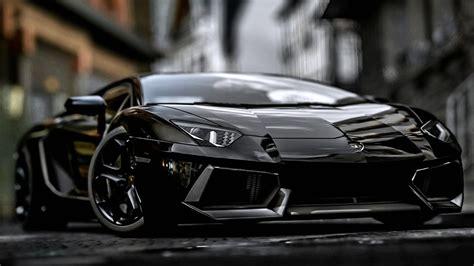 Hd Car Wallpapers 1080p Roses by Black Lamborghini Aventador Wallpaper Hd 1080p