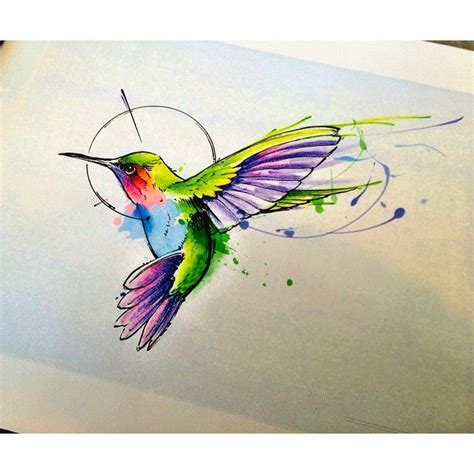 hummingbird watercolor tattoo 1000 ideas about watercolor hummingbird on