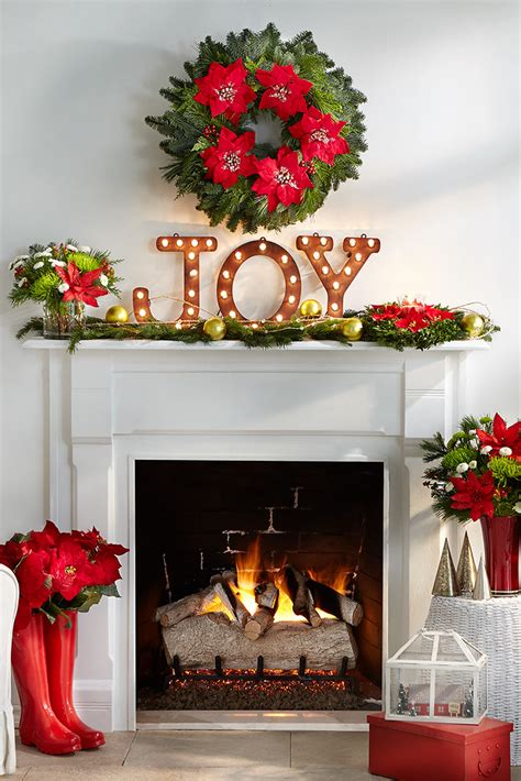 merry mantel  lighted joy sign pine cuttings  orna flickr