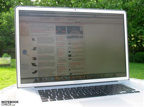 Review Macbook Pro 17 Quot Unibody Non Glare Notebookcheck