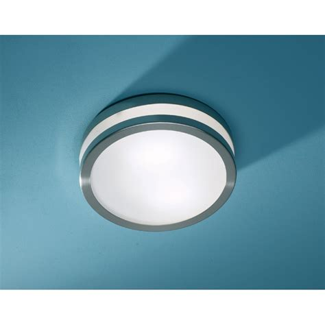 Modern Flush Ceiling Lights Dar Dar Cyr5046 28le Cyro 1 Light Modern Bathroom Flush Ceiling Light Ip44 Stainless Steel