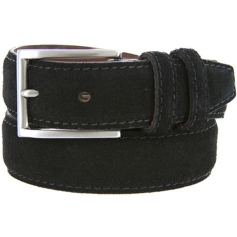 s suede leather dress belt 1 3 8 quot wide black
