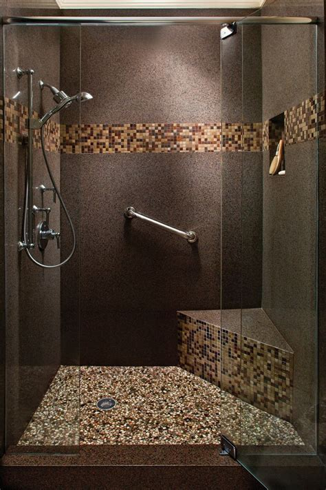 bathroom shower stall tile designs 17 best ideas about mosaic tile bathrooms on pinterest