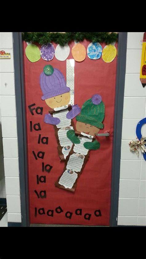 christmas classroom door school ideas pinterest